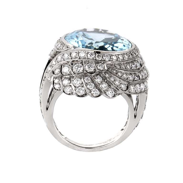 garrad jewelry garrard aquamarine white gold ring at 1stdibs 4312