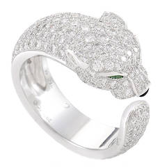 Cartier Panthere de Cartier Diamond White Gold Pave Band Ring