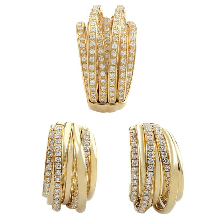 de Grisogono Allegra Yellow Gold Earring and Ring Set at ...