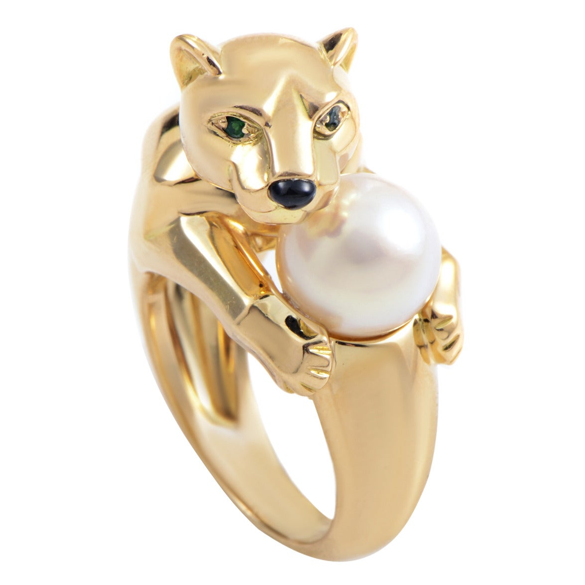 Cartier Panthere Pearl Gold Ring