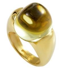 Ippolita Lemon Quartz 18K Yellow Gold Elevated Ring