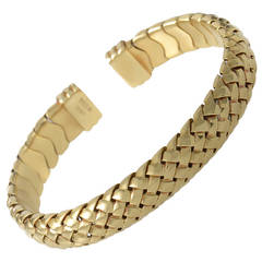 Tiffany & Co. Woven Yellow Gold Cuff Bracelet