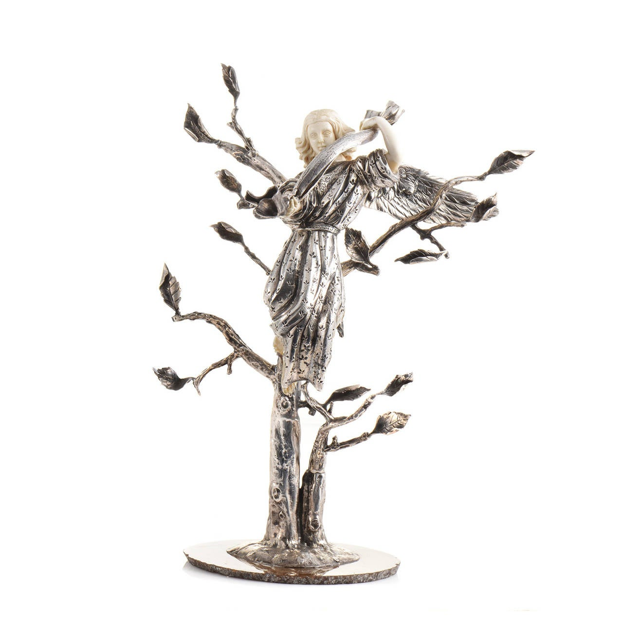 Women's or Men's Sterling Silver Nativity Statue Set For Sale