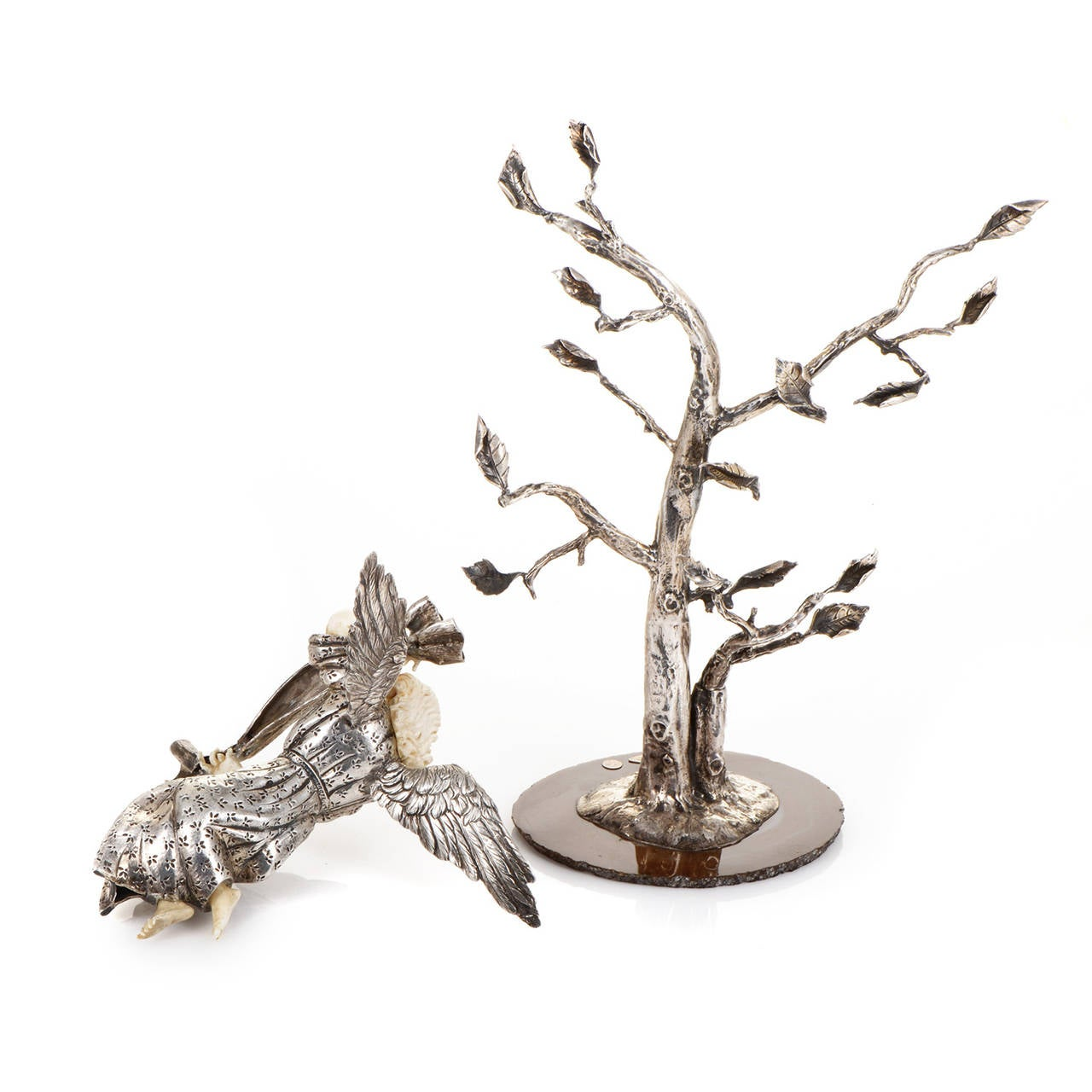 Sterling Silver Nativity Statue Set For Sale 4