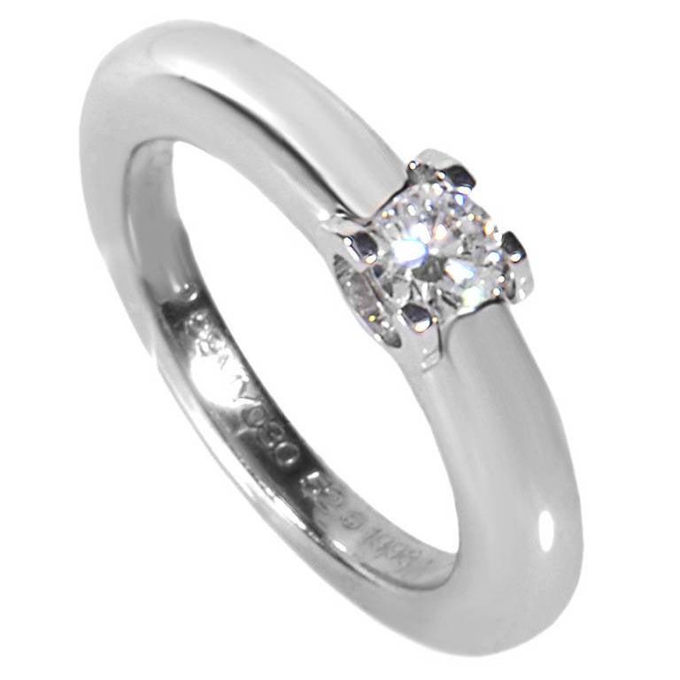 dc83a3b440410 Cartier C de Cartier Diamond White Gold Engagement Ring at 1stdibs