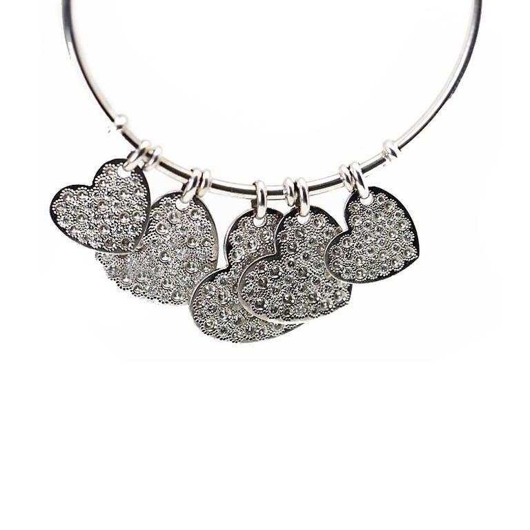 Dior Diamond Gold Heart Hoop Earrings 4