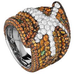 Maggioro Multi Gem Gold Starfish Ring