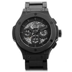 Hublot Ceramic Aero Bang All Black Chronograph Wristwatch