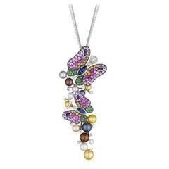 Maggioro White Gold Caprice Pendant Necklace
