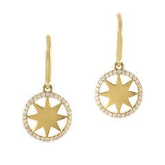 Tiffany & Co. Yellow Gold Diamond Sunburst Earrings