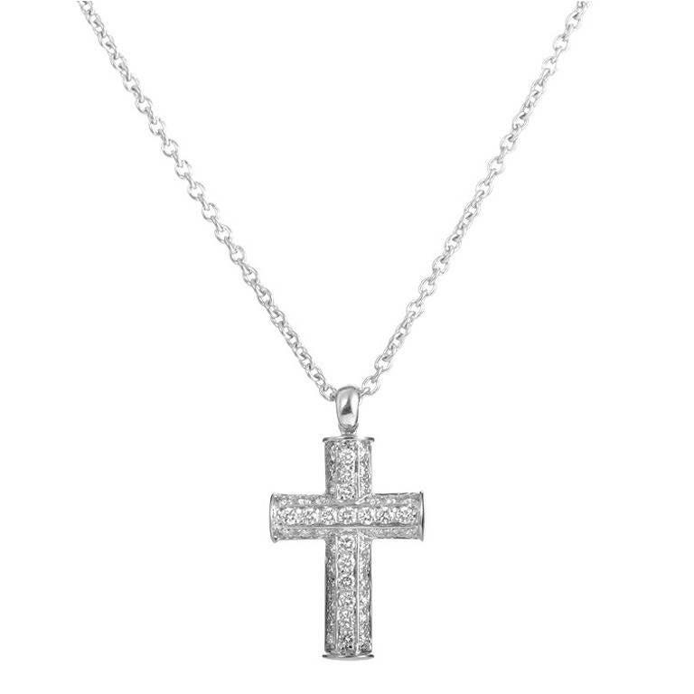 Bulgari diamond pave white gold cross pendant necklace at 1stdibs bulgari diamond pave white gold cross pendant necklace for sale aloadofball Gallery