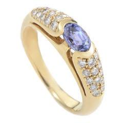 Bulgari Sapphire Diamond Yellow Gold Ring