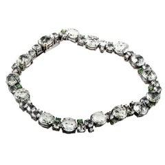 A & Furst by Antonini Green Amethyst Tsavorite Tennis Bracelet