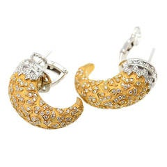 Carrera y Carrera Diamond Two Color Gold Ava Earrings