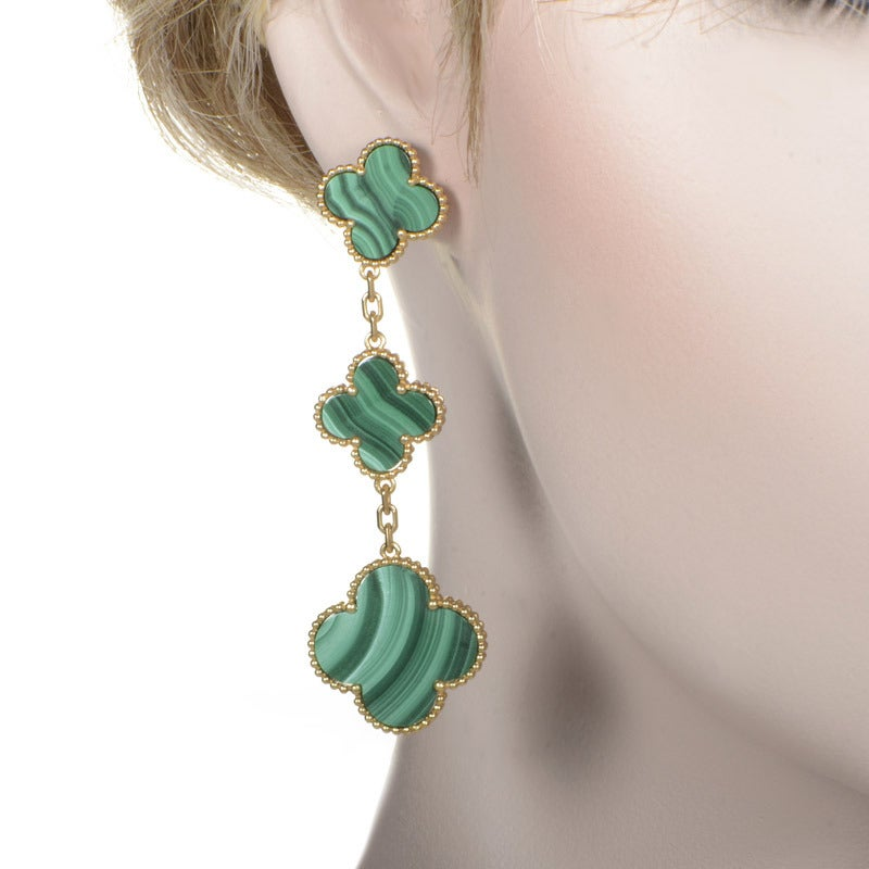 Van Cleef And Arpels Magic Alhambra Malachite Yellow Gold