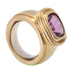 Slane & Slane Amethyst Yellow Gold Ring