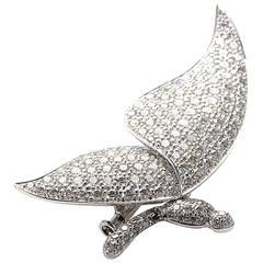 Ambrosi Diamond Gold Papillon Pin