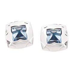 Bulgari Piramide Topaz White Gold Earrings