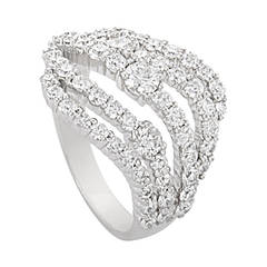 Hearts on Fire Diamond White Gold Openwork Band Ring