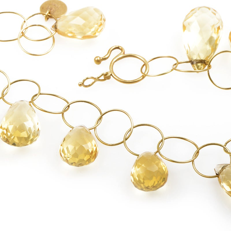 Mallary Marks Citrine Gold Collar Necklace