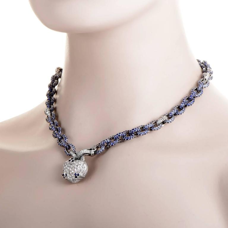 Judith ripka sapphire diamond gold necklace at 1stdibs precious gemstones take center stage in this decadent design from judith ripka the necklace is aloadofball Images