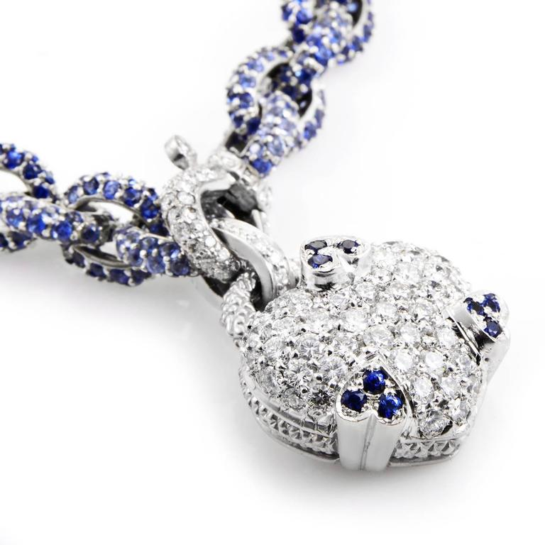 Judith ripka sapphire diamond gold necklace at 1stdibs judith ripka sapphire diamond gold necklace in excellent condition for sale in southhampton pa aloadofball Gallery