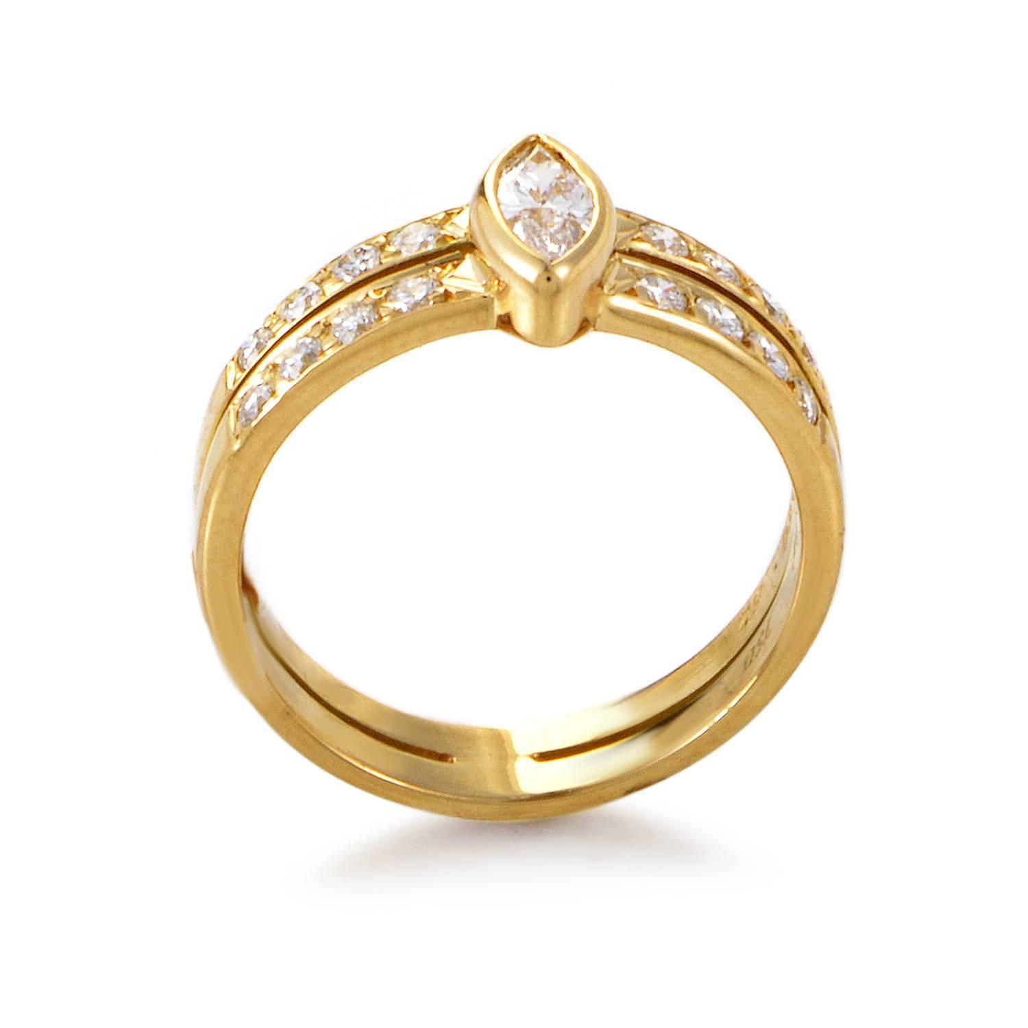 Cartier Diamond gold Engagement Ring at 1stdibs