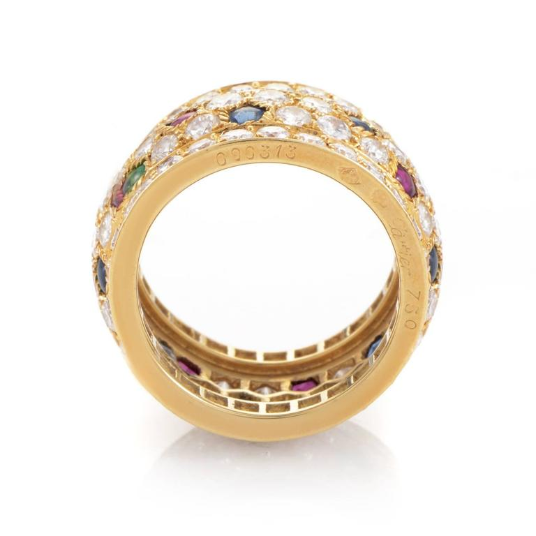 Cartier Panthere Multi-Stone Diamond Gold Ring In Excellent Condition For Sale In Southhampton, PA