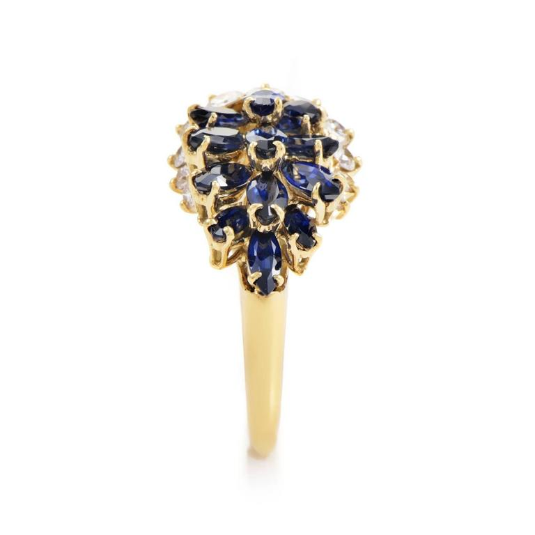 Piaget Sapphire Diamond Gold Ring at 1stdibs