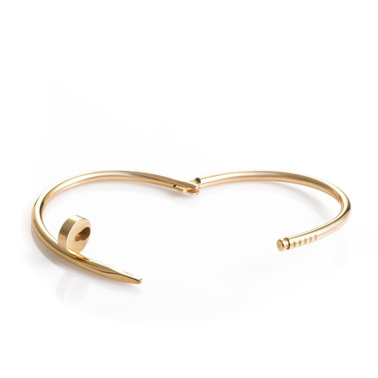 gold clou jewels en collector cartier un pink opening bracelet square juste in