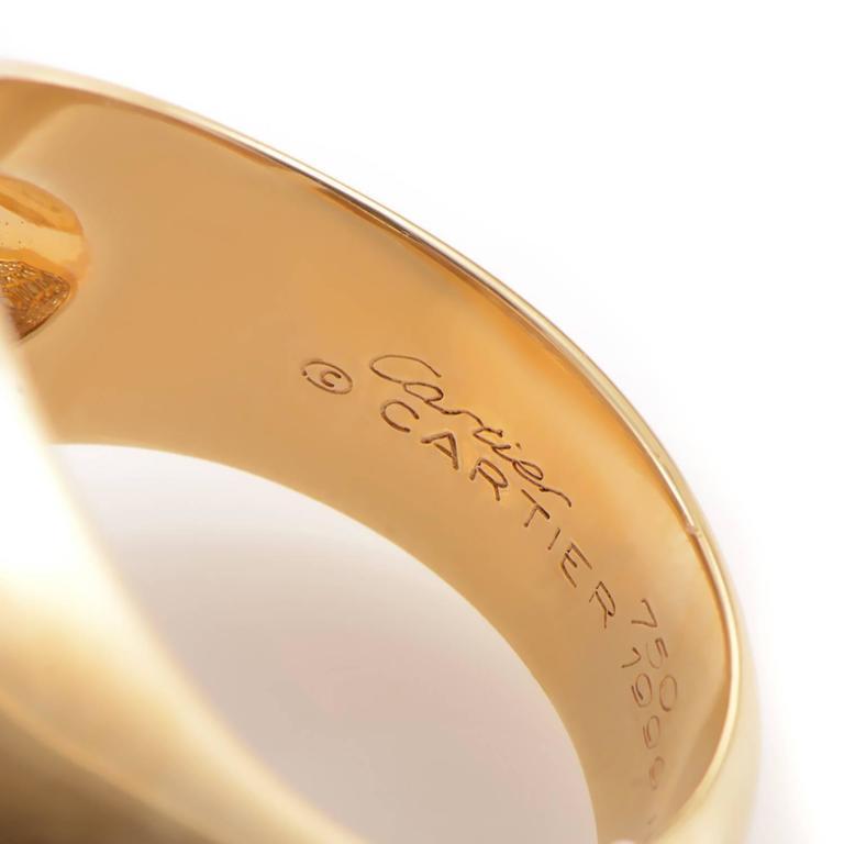 Cartier Diamond Pave Gold Ring 4