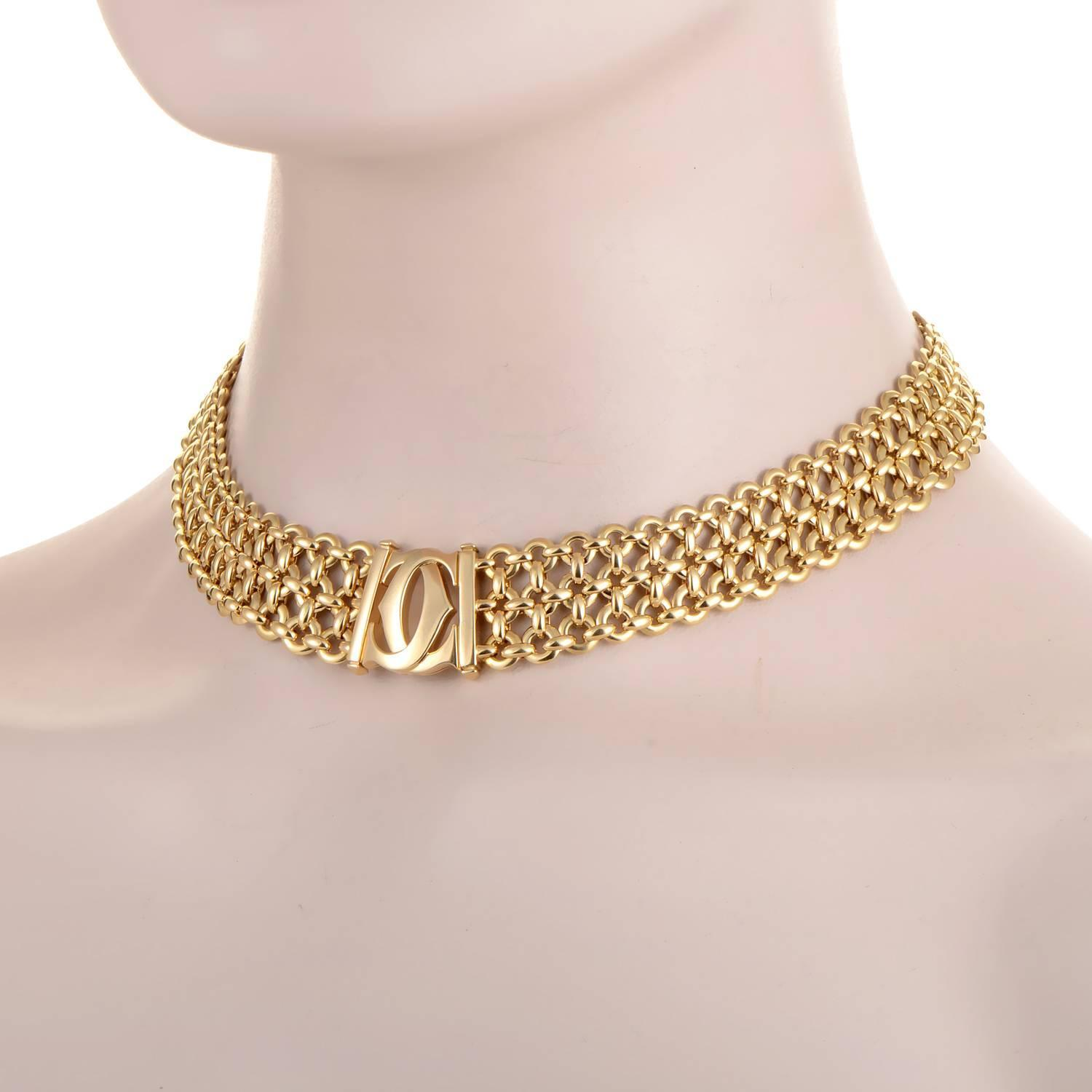 cartier gold choker necklace at 1stdibs. Black Bedroom Furniture Sets. Home Design Ideas