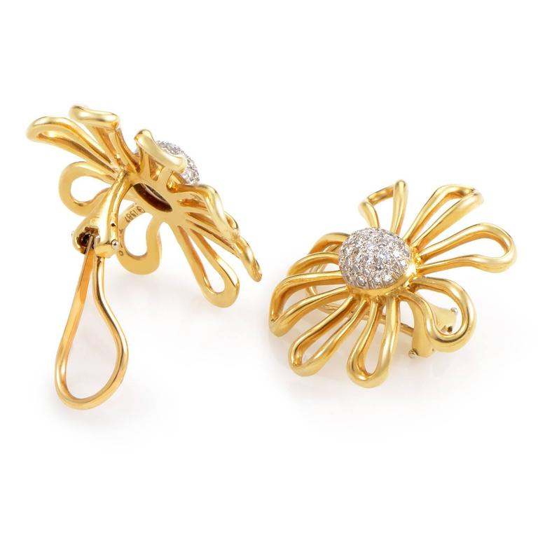 Tiffany & Co. Paloma Picasso Diamond Gold Platinum Earrings 2