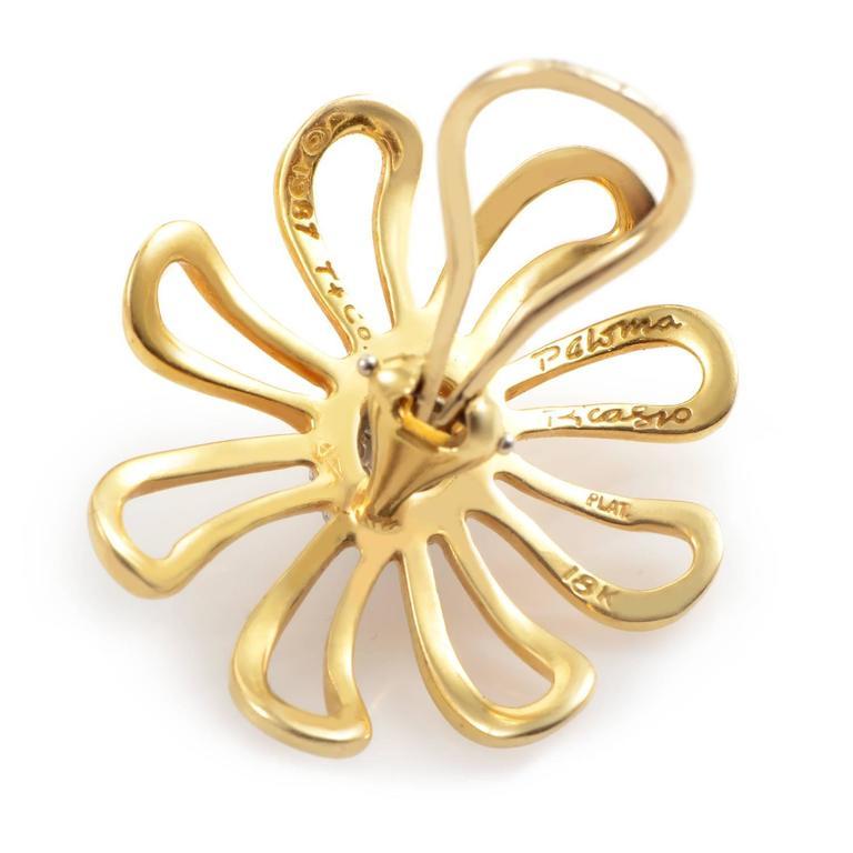 Tiffany & Co. Paloma Picasso Diamond Gold Platinum Earrings 3