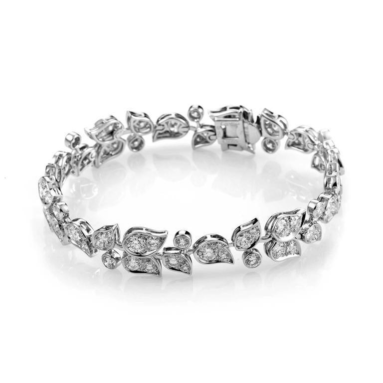 Cartier Diamond Gold Floral Bracelet 2