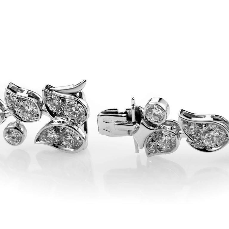 Cartier Diamond Gold Floral Bracelet 3