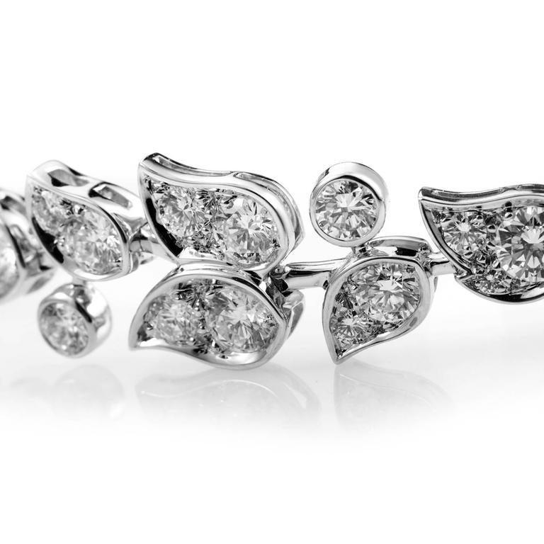 Cartier Diamond Gold Floral Bracelet 4