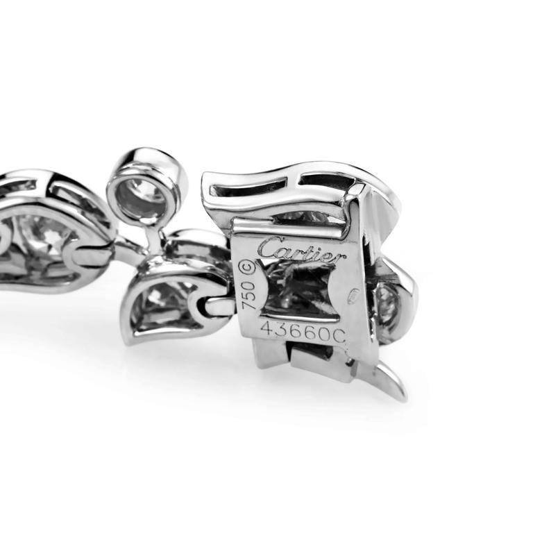 Cartier Diamond Gold Floral Bracelet 5
