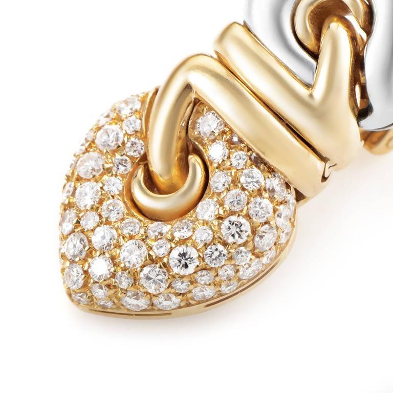 Bulgari Diamond Multi-Color Gold Clip-On Earrings 2