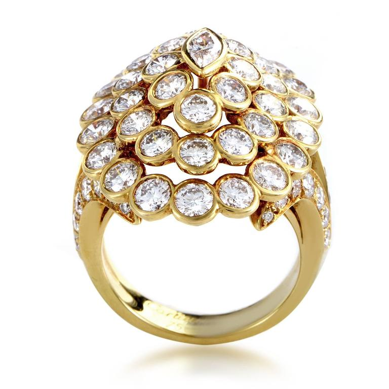 Cartier Diamond Gold Cluster Ring 2