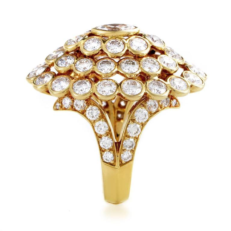 Cartier Diamond Gold Cluster Ring 3