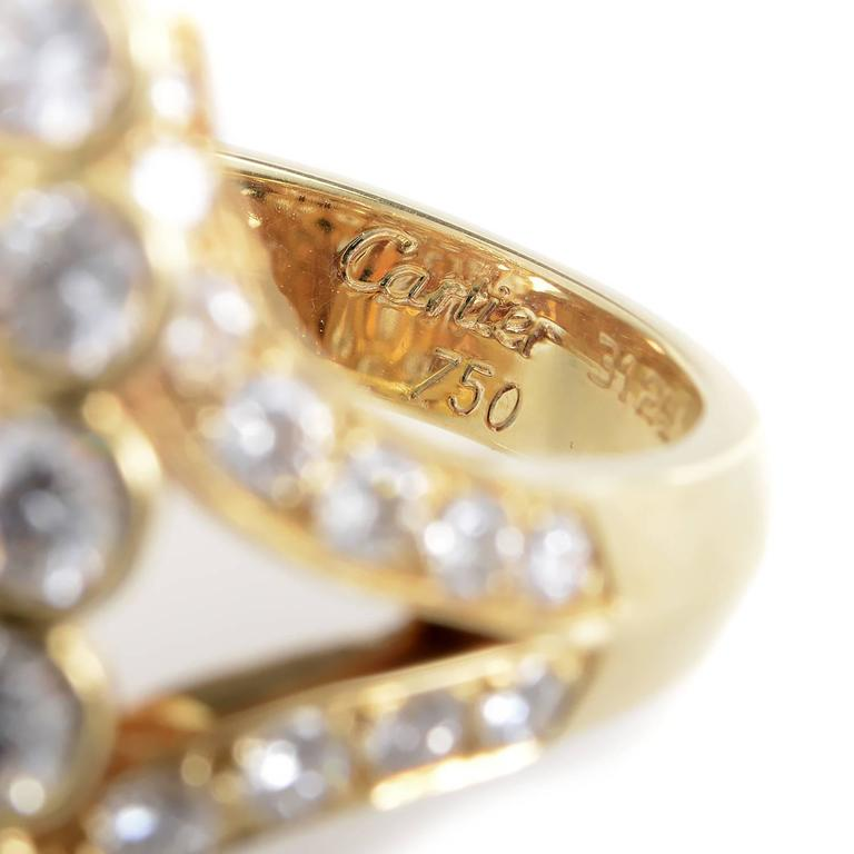 Cartier Diamond Gold Cluster Ring 4