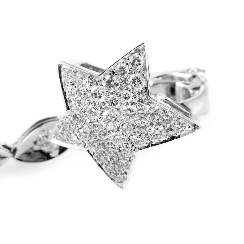 chanel comete diamond gold dangle earrings at 1stdibs. Black Bedroom Furniture Sets. Home Design Ideas