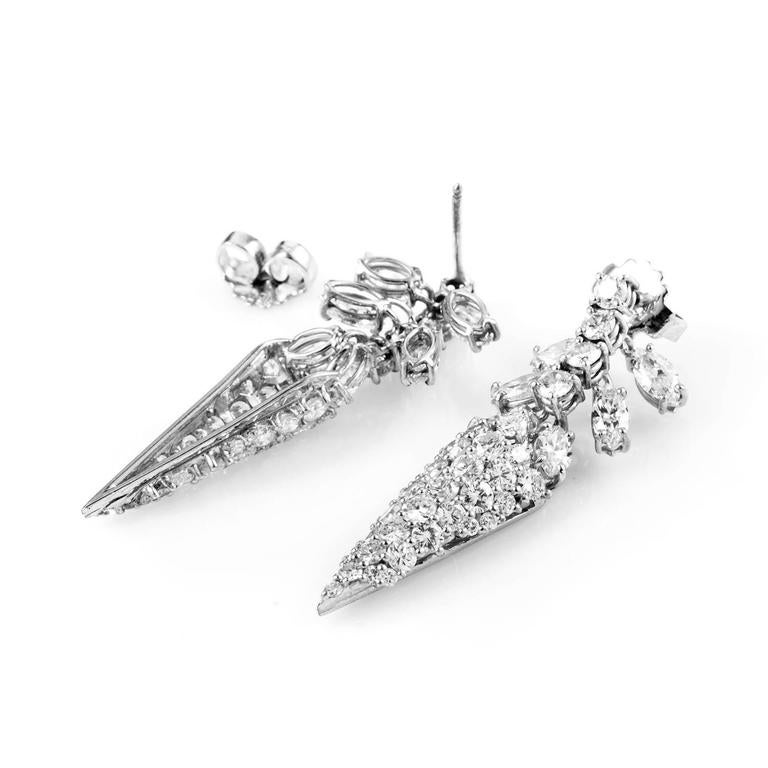 Diamond Pave Gold Spike Earrings 2