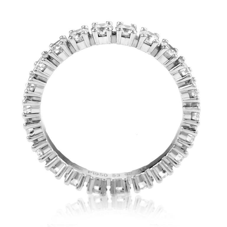 Cartier Diamond Platinum Eternity Band Ring 2