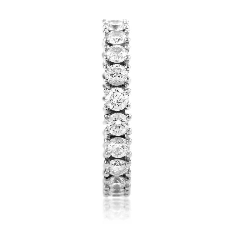 Cartier Diamond Platinum Eternity Band Ring 3