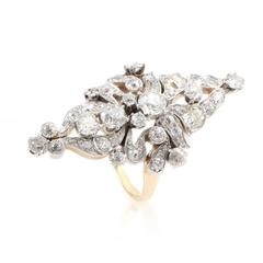 Antique Diamond Gold Platinum Ring