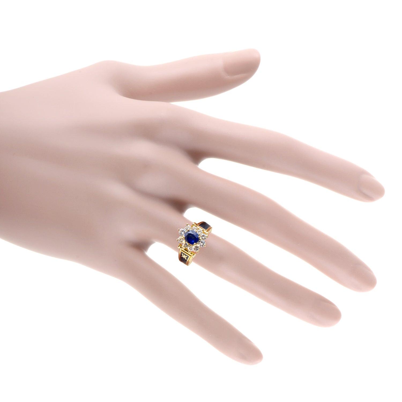 Korloff Enamel Sapphire Diamond Gold Ring For Sale at 1stdibs