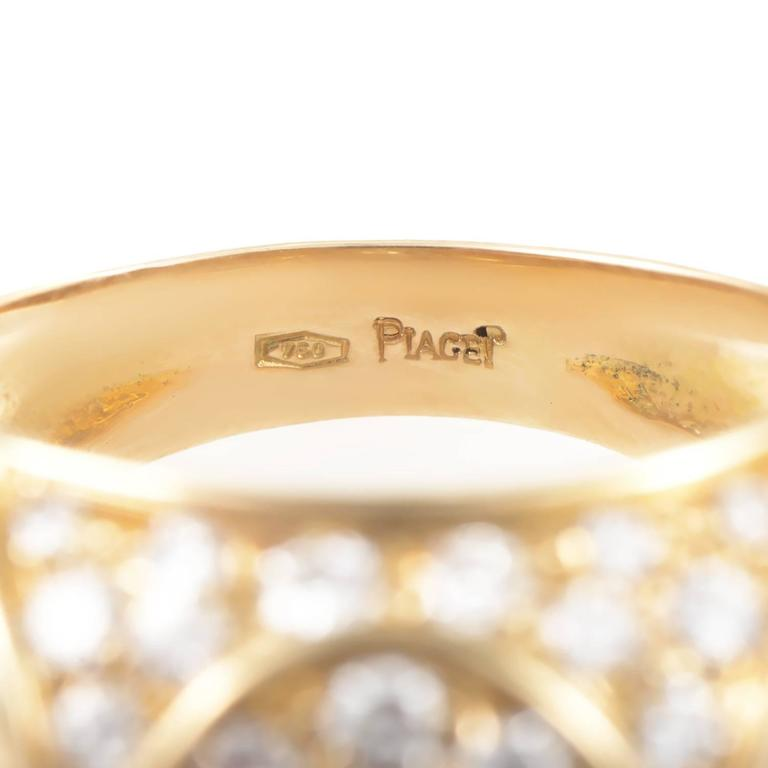 Women's Piaget Diamond Gold Band Ring For Sale