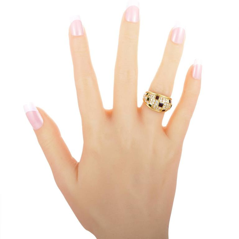 Women's Piaget Precious Gemstone Diamond Gold Band Ring For Sale
